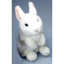 Peluche lapin blanc 18 cm