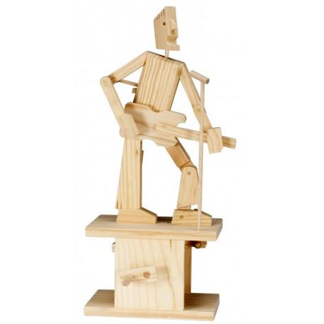 Automate en bois guitariste en kit 26 cm
