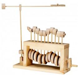 Automate en bois Chenille Papillon en kit 21 cm