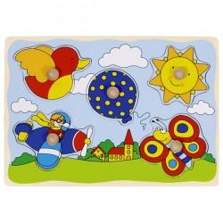 Puzzle enfant en bois ciel 5 pièces