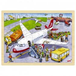 Puzzle enfant en bois aéroport 96 pièces
