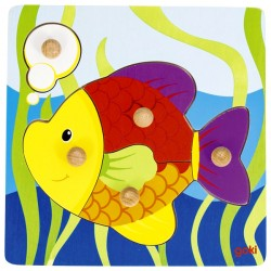 Puzzle enfant en bois poisson 5 pièces