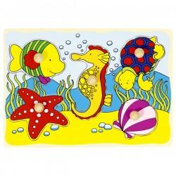 Puzzle enfant en bois poissons 5 pièces