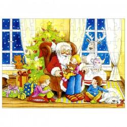 Puzzle enfant en bois Père Noël 96 pièces