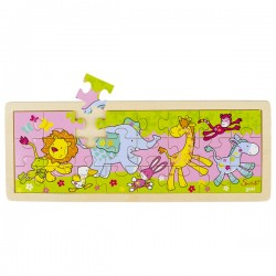 Puzzle enfant en bois animaux 24 pièces