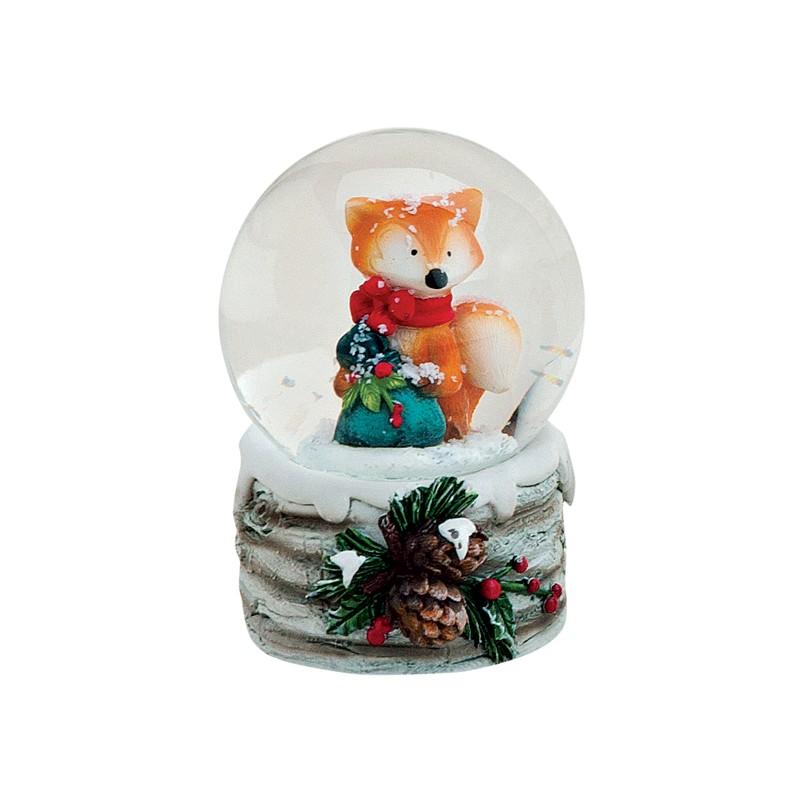 boule neige renard no l rouge r sine 6 cm la magie des automates. Black Bedroom Furniture Sets. Home Design Ideas