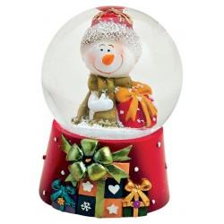 Boule à neige Bonhomme de Neige cadeau résine 6cm