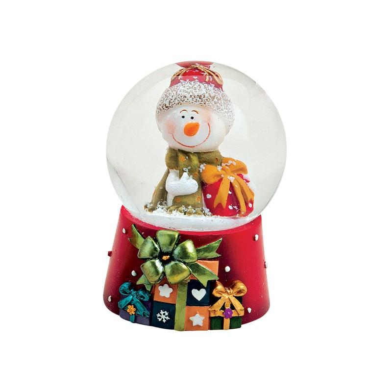 boule neige bonhomme de neige cadeau r sine 6cm la. Black Bedroom Furniture Sets. Home Design Ideas