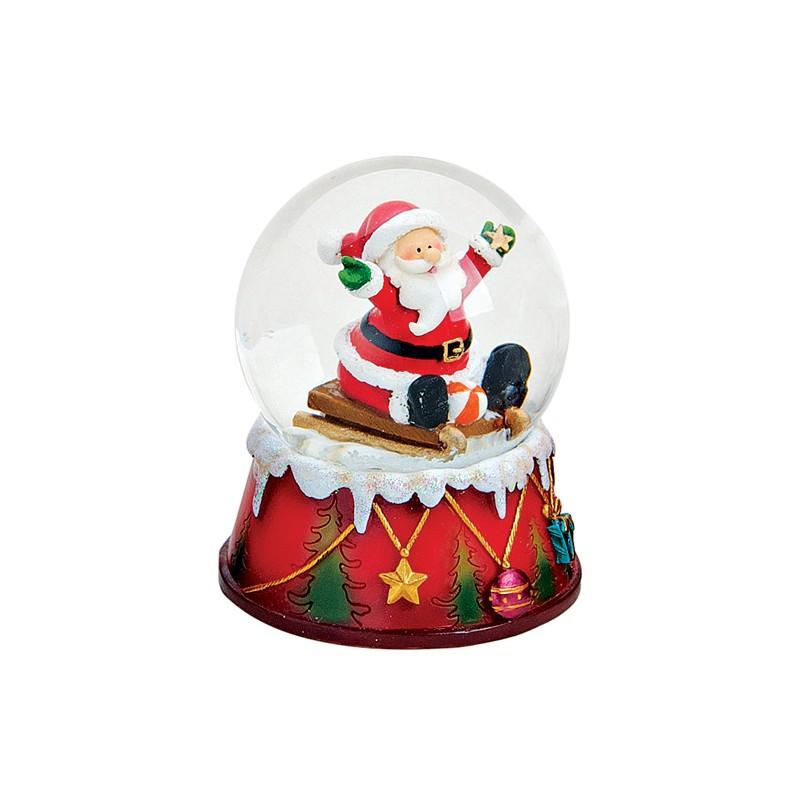 boule neige p re no l toile ballon 9 cm r sine la magie des automates. Black Bedroom Furniture Sets. Home Design Ideas