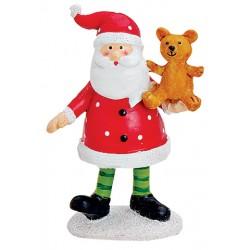 Figurine Père Noël ours résine 9 cm