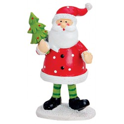 Figurine Père Noël sapin résine 9 cm