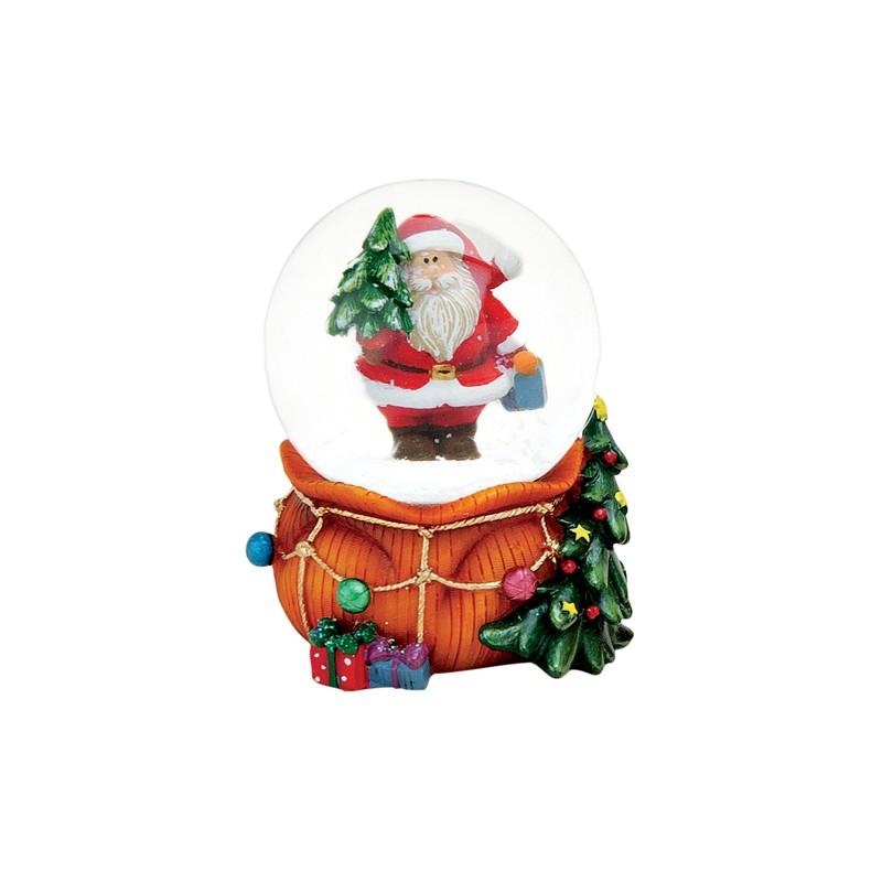 boule neige p re no l hotte orange r sine 6 cm la magie des automates. Black Bedroom Furniture Sets. Home Design Ideas