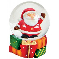 Boule à neige Père Noël résine 6 cm
