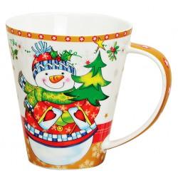 Tasse Noël Bonhomme de neige porcelaine 40 cl