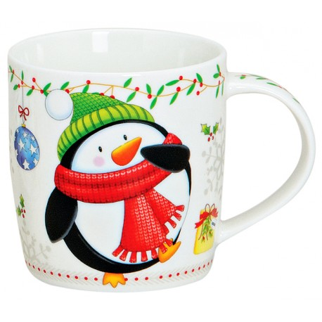 Tasse Noël Pingouin porcelaine 30 cl