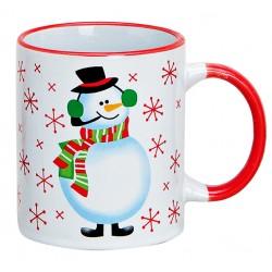 Tasse Noël Bonhomme de neige céramique 30 cl