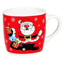 Tasse Père Noël rouge céramique 20 cl