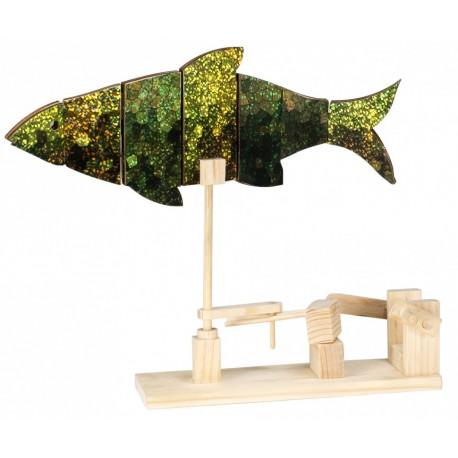 Automate en bois poisson en kit 21 cm