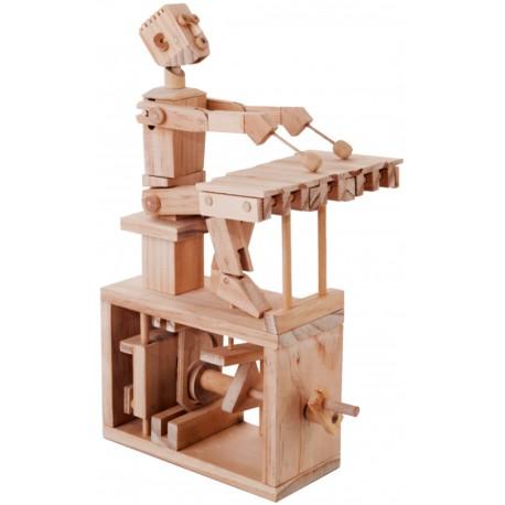 Automate en bois joueur de xylophone en kit 26 cm