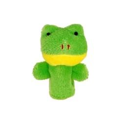 Marionnette à doigt en peluche Grenouille verte 8 cm