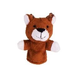 Marionnette à doigt en peluche Cerf marron 8 cm