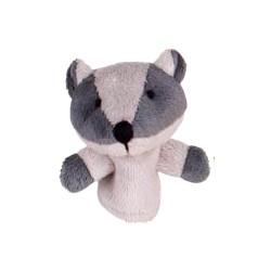 Marionnette à doigt en peluche Blaireau gris 8 cm