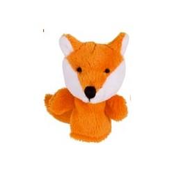 Marionnette à doigt en peluche Renard orange 8 cm