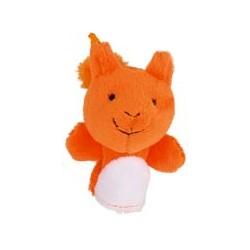 Marionnette à doigt en peluche Ecureuil orange 8 cm