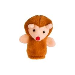 Marionnette à doigt en peluche Hérisson marron 8 cm