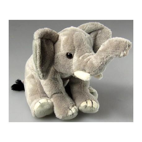 Peluche éléphant gris 16 cm