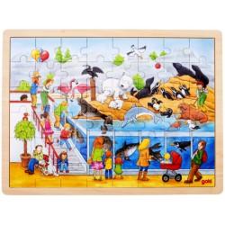 Puzzle cadre enfant en bois zoo 48 pièces