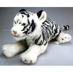 Peluche tigre blanc 46 cm