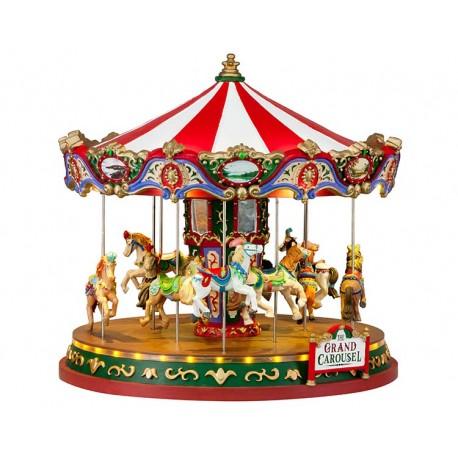 Grand Carrousel lumineux animé et sonore Lemax Carnival