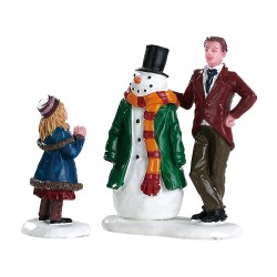Bonhomme de neige de papa lot de 2 Lemax Caddington