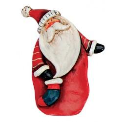 Pince Père Noël rouge 8 cm