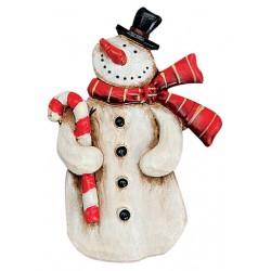 Pince Noël bonhomme de neige 8 cm