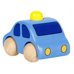 Voiture en bois enfant avec klaxon bleu clair 9 cm