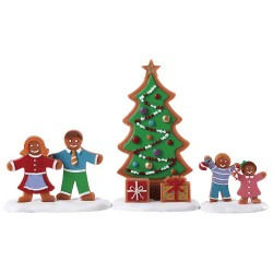 Décoration Sapin de Noel Pain d'épices lot de 3 Lemax