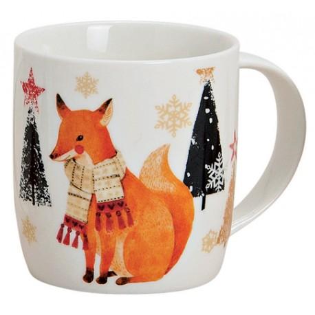 Tasse Noël renard porcelaine 30cl