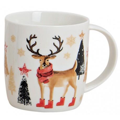 Tasse Noël renne porcelaine 30cl