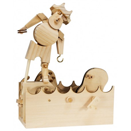 Automate en bois pirate en kit 26 cm