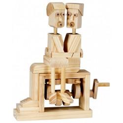Automate en bois couple d'amoureux en kit 18 cm
