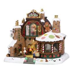 Maison lumineuse animée et sonore Cuisine de la Mère Noël