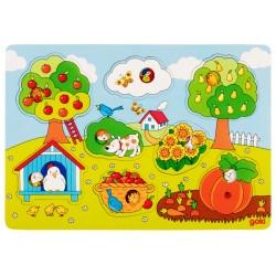 Puzzle enfant en bois jardin 8 pièces