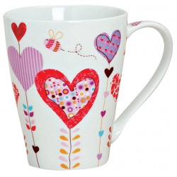 Tasse coeur abeille violet 30 cl