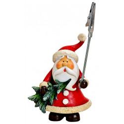 Porte photo Père Noël sapin résine 11 cm