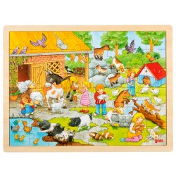 Puzzle enfant en bois ferme 48 pièces