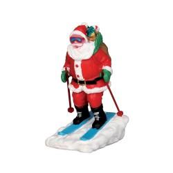 Père Noël à ski Lemax Vail Village
