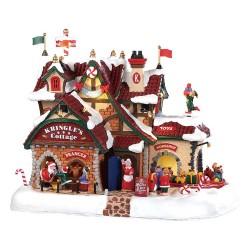 Maison lumineuse animée et sonore du Père Noël Lemax Santas Wonderland