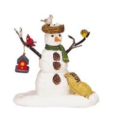 Bonhomme de neige et oiseaux Lemax Vail Village